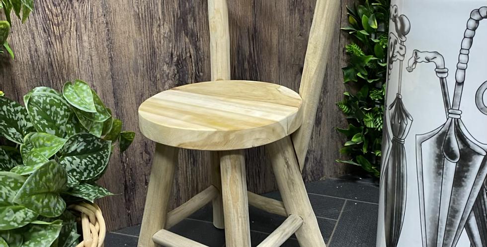 Mini Teak Rustic Chair