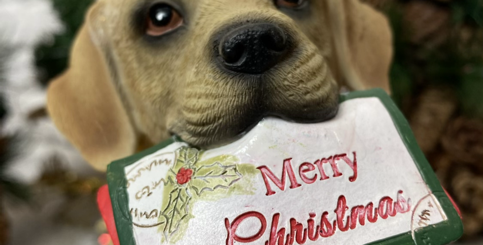 Christmas Dog with Post!