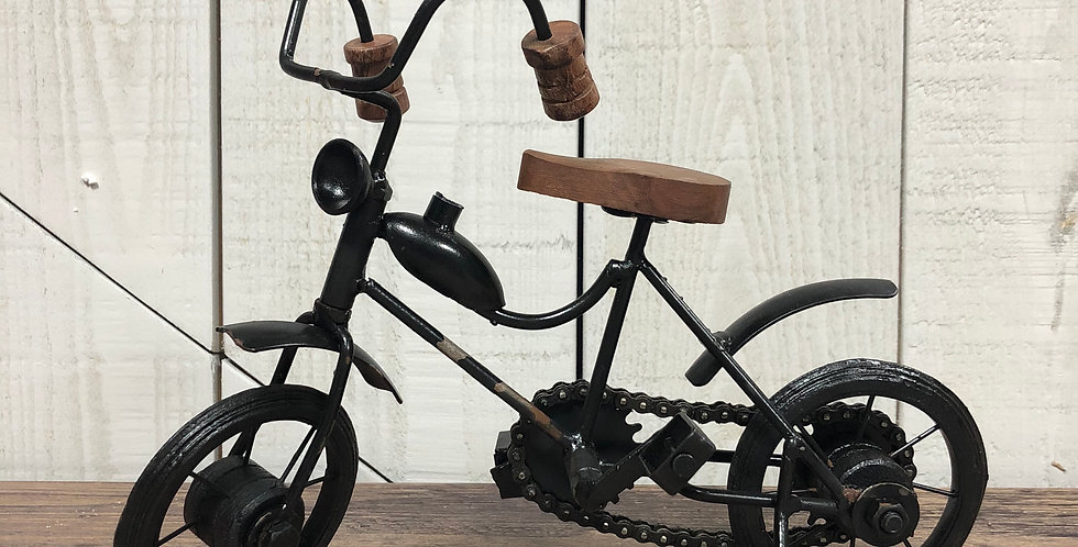 Rustic Metal Bicycle, with Real Working Chain