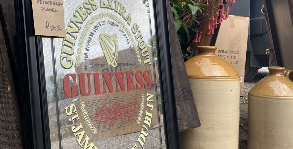 Guinness Antique Style Branded Mirror