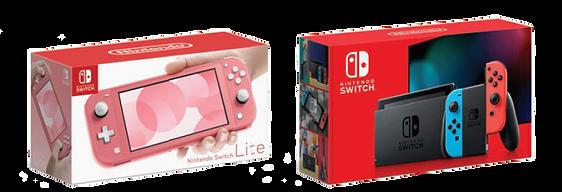 Nintendo Switch Lite and Nintendo Switch