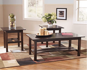 T309-13 LEWIS BROWN 3-PIECE OCCASIONAL TABLE