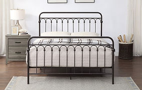 Metal Bronze Queen Bed Frame