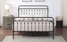 Metal Bronze Queen Bed Frame