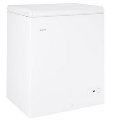 Hotpoint 5 cubic foot chest freezer white