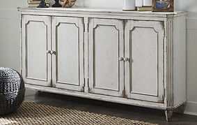 T505-560 MIRIMYN ANTIQUE WHITE ACCENT CABINET