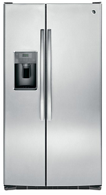 GE Side by Side 25 CF Stainless Steel Refrigerator