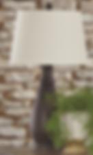 SYDNA ANTIQUE BLACK TABLE LAMPS SET OF 2