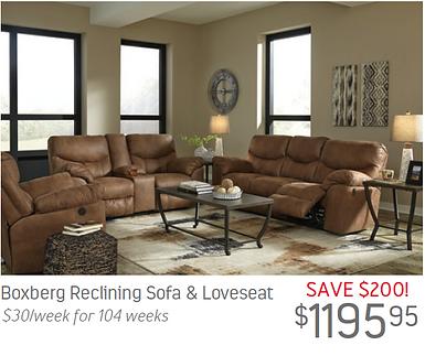 Boxberg Reclining Sofa Loveseat