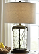 TAILYNN BRONZE AND CLEAR TABLE LAMPS SET OF 2