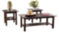 Lewis Medium Brown 3-Piece Occasional Table CM City $99 Sale