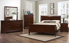 Mayville Classic Queen Bedroom Furniture Frame Nightstand Dresser
