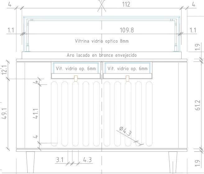 Planos mobiliario joyeria exposicion