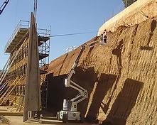 Construccion muros de contención y excavacion de taludes en Barcelona, Tarragona, Lerida, Gerona y Cataluña