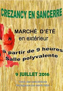 Marché d'été à Crézancy