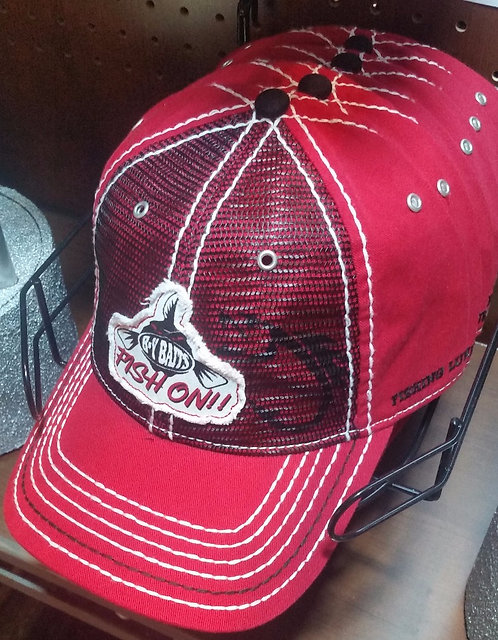 NEW! B-Y Baits Ball Cap (Red Style)