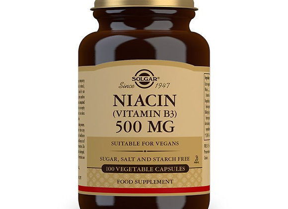 Niacin Solgar 500mg 100 Capsules