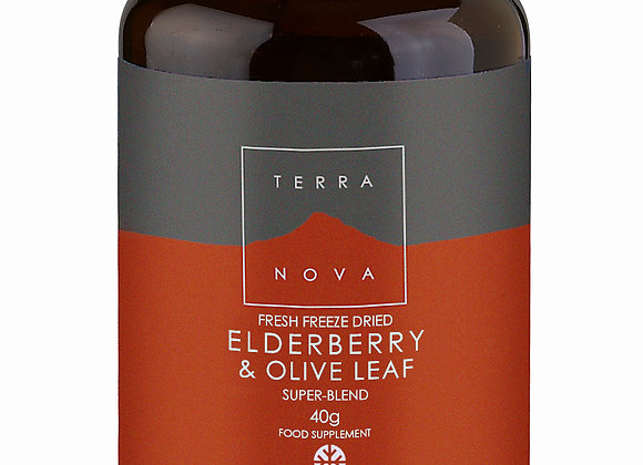 Elderberry and Olive Leaf Super-Blend 40g