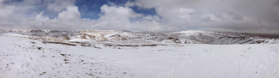 Snow covered Plateau, even in June