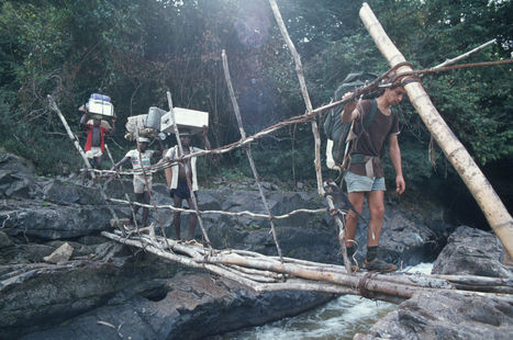 Leaving Korup with my porters after four months filming