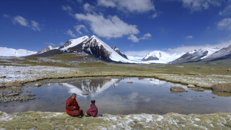 Little Gama with Living Buddha beneath the source of the Yangtze