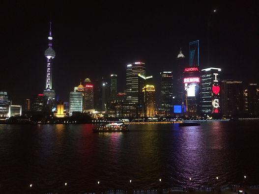 Huangpu River, Shanghai at Night, China Between Clouds and Dreams