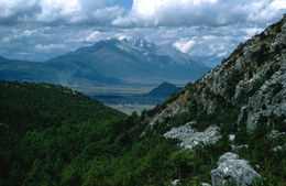 The view towards Lijiang and the valley before Yulong mountain