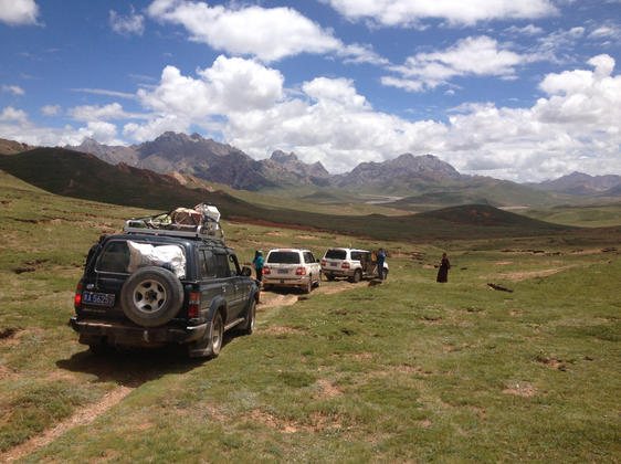 Almost all of our work on the plateau was well away from roads