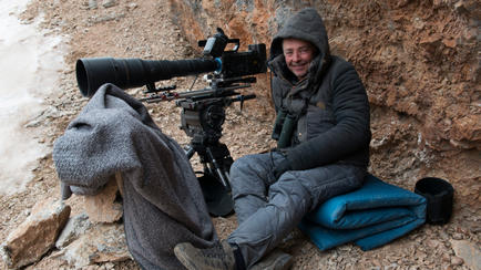 Just after filming Snow Leopard, the first time in China
