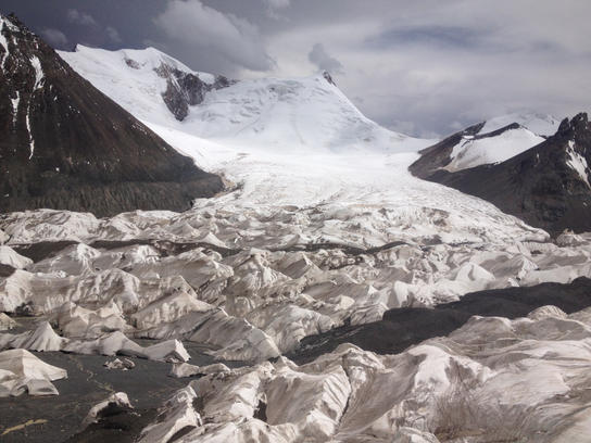 Melting glaciers at the source of the Yangtze