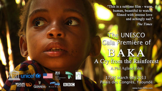 Our UNESCO Premiere in Yaounde. We brought Camera, Yeye and Ambi to be there.