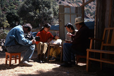 Filming Little Swallow and her parents in Lijiang, just after the 1996 earthquake