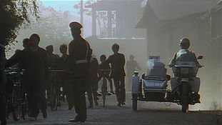 Lijiang in 1994, a street scene in the new town