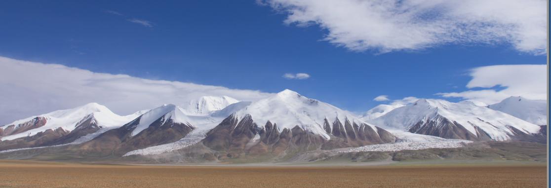The stunning mountains of Kekexili Wilderness on the Tibetan Plateau