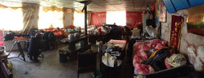 Our accommodation in Cuochi, Tibetan Plateau