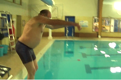 LEARNING TO SWIM AT 77 YEARS OF AGE