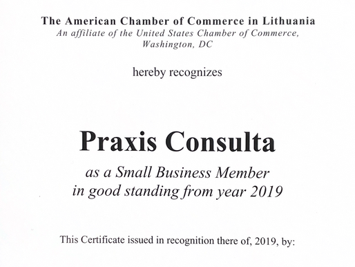 Praxis Consulta recognised by The American Chamber of Commerce