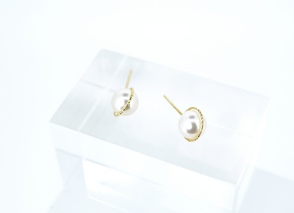 AKOYA PEARL PLANETARY RING 18K EARRINGS