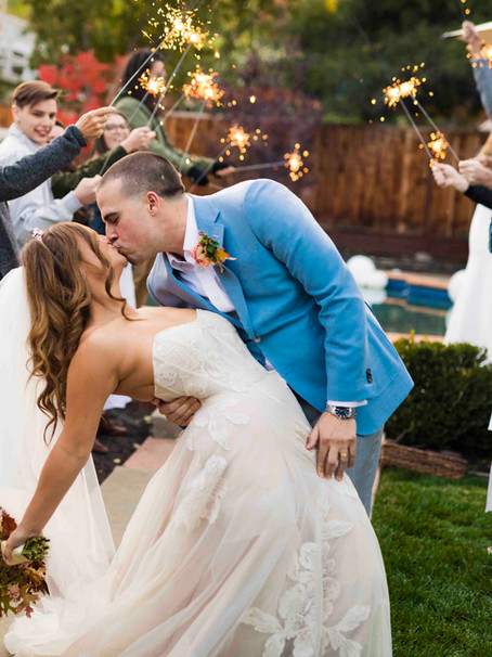 Backyard Covid Wedding, Walnut Creek, CA