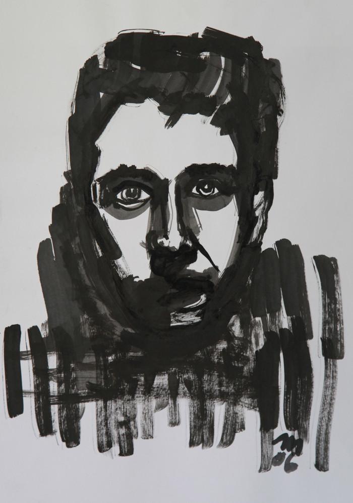Schwarz gemalt