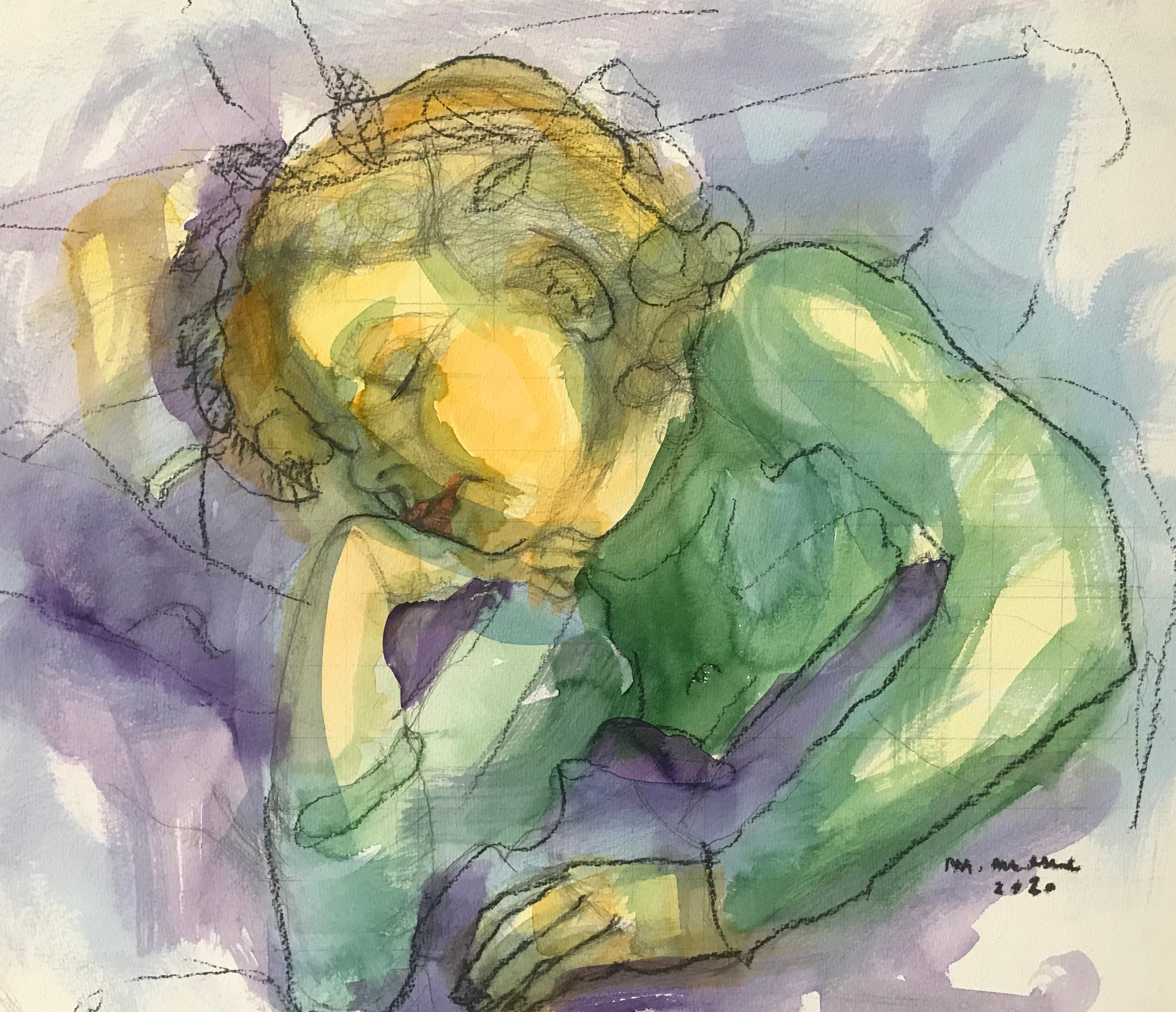 schlafendes Kind (gerahmt)