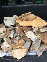 flache Steine