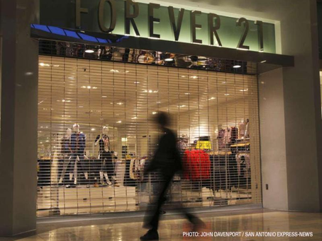 Forever 21 is closing their 44 Canadian stores.