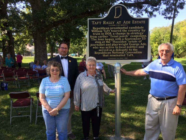 Historic Marker - Taft Rally at Ade Estate