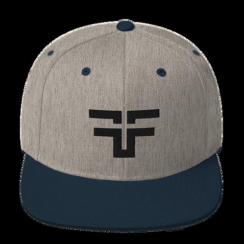 """Mirrored F"" Logo Snapback"