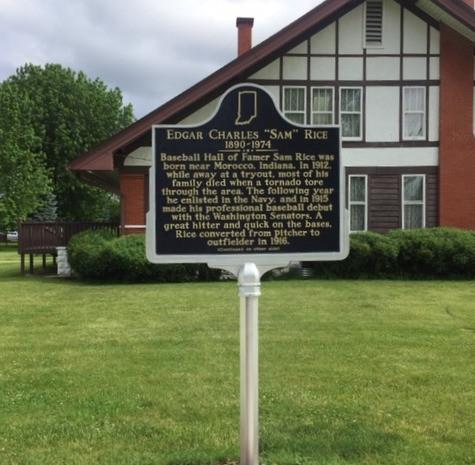 Historic Marker at Scott Lucas House