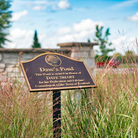 Dave's Pond Marker at Cast Park