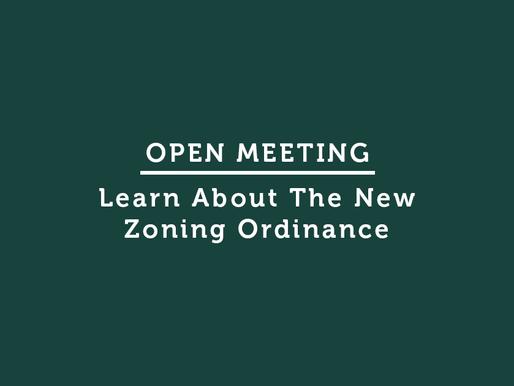 Open Meeting: New Zoning Ordinance