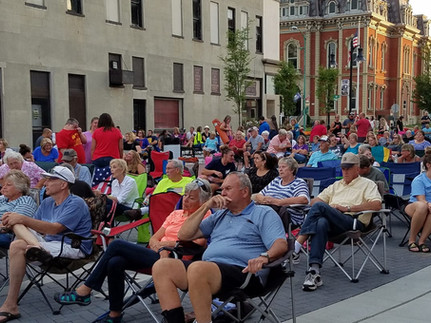 Crowd in Downtown Decatur