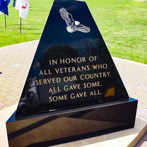 Veterans / POW Memorial at Foster Park